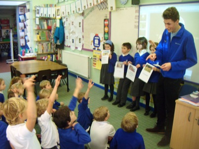 Interactive fun at St. Andrews Primary School, Devon.